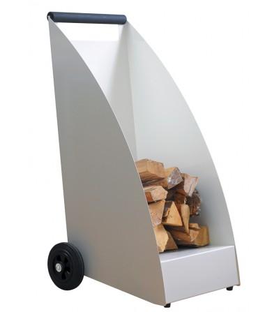 Wózek na drewno WOOD biały RAL 9010