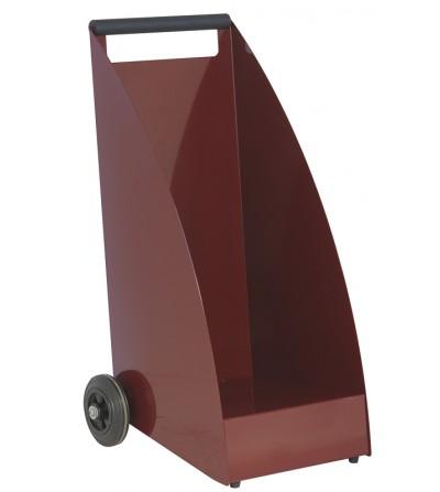 Wózek na drewno WOOD wiśniowy RAL 3005