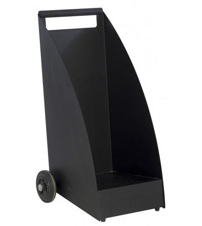 Wózek na drewno WOOD czarny mat RAL 9011
