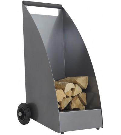 Wózek na drewno WOOD grafitowy DB703
