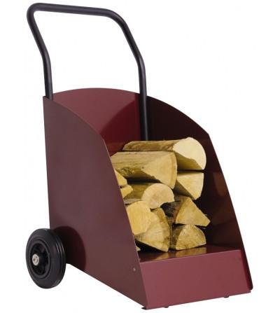 Wózek na drewno WOODY wiśniowy RAL 3005