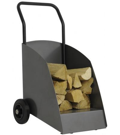 Wózek na drewno WOODY szary DB703