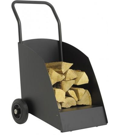 Wózek na drewno WOODY czarny czarny mat RAL 9011