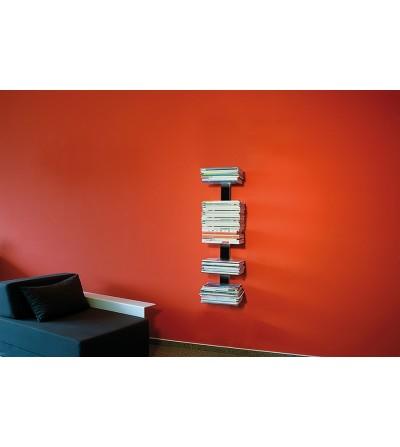 BOOKSBAUM wiszące półki na gazety czarne 90 cm