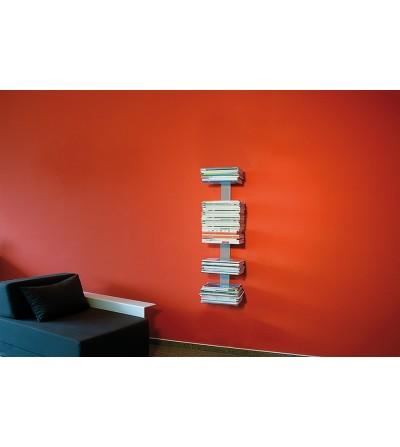 BOOKSBAUM wiszące półki na gazety szare 90 cm