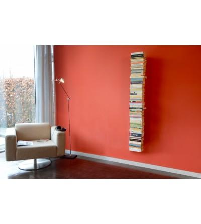 BOOKSBAUM wiszące pojedyncze półki na książki białe 170 cm