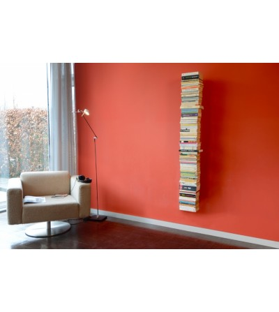 BOOKSBAUM wiszące pojedyncze półki na książki szare 170 cm