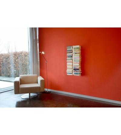 BOOKSBAUM wiszące podwójne półki na książki białe 90 cm