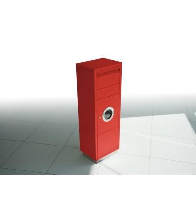 skrzynka na przesyłki kurierskie LETTERMAN z otworem czerwona