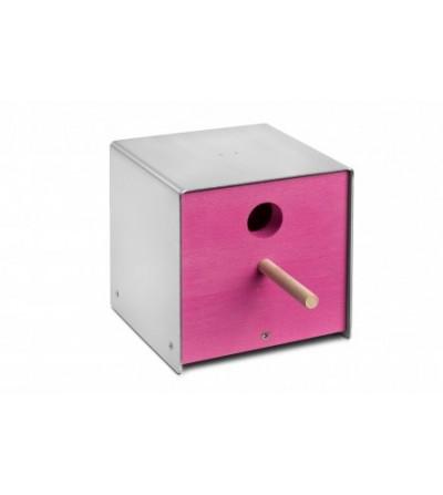 budka dla ptaków TWITTER różowy