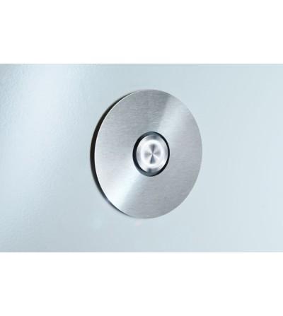przycisk dzwonka DOOR BELL okrągły biały