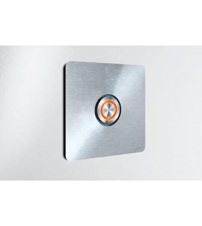 przycisk dzwonka DOOR BELL kwadratowy pomarańczowy